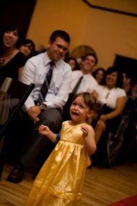 Oh yes...that was how she walked down the isle at Aunt Laura's wedding