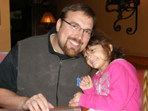 Justin and Addyson at dinner downtown