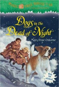 Dogs in the Dark by Mary Pope Osborne (Magic Tree House #46)